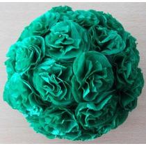 Esferas Con Flores De Papel - Colgantes - Centros De Mesa