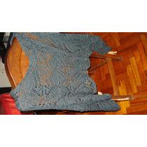 Poncho Lana Al Crochet