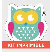 Kit Imprimible Buho Personalizado Para Cumple
