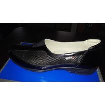 Zapatos Dama Nro 38 Color Negro Con Puntos Dorados.