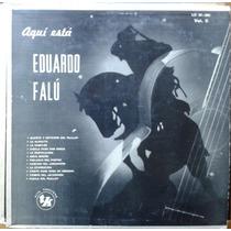 Vinilo Eduardo Falu Aqui Esta