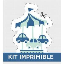 Kit Imprimible Calesita Bautismo Cumple Invitacion Golosinas