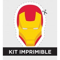 Kit Imprimible Ironman Cumple Golosinas Souvenirs Invitacion