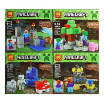 Minecraft Set X 4 Minifigura Simil Nenes!!! 240 Pizas