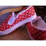 Zapatillas De Tela A Lunares, Bien A La Moda!!