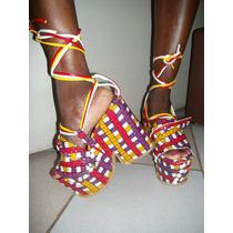 Sandalias Artesanales Con Plataformas-altas