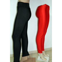 Calza Brillo Supplex Costura Ref. Negro Azul Rojo S M-l-xl+