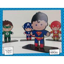 Souvenir Aplique Personalizado Madera 30cm Heroe Superman Dc