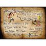 40 Tarjetas Cumpleaños 14x20 Cm. Bifaz Pergamino Pirata Jake