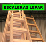 Escalera De Madera 6 Escalones Reforzada. Excelente Calidad