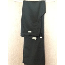 Versace Pantalón Negro 40 Seda Fiesta