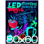 Pizarra Led Cartel Luminoso 80x60 +trafo+control+5marcadores