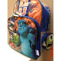 Mochila Colegio Monster University Mike Original Disney Inc