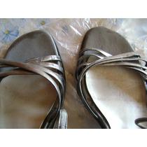 Sandalias Talle 37 Color Peltre