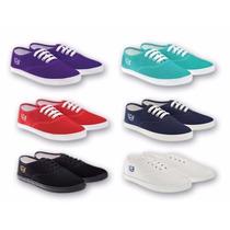 Zapatillas Deli C/cordon Lisas Talle 34 Al 41 Varios Colores