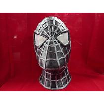 Spiderman Negra Máscara De Látex Hombre Araña Mordortoys
