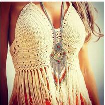 Crop Top, Crochet, Artesanal