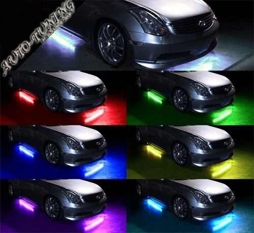 Kit de luces led bajo chasis tipo neon 7 colores con for Luces led colores
