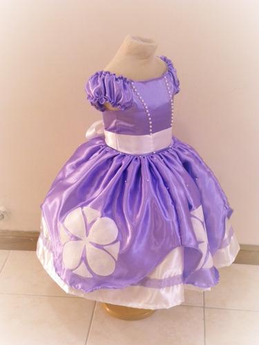 Vestido Princesa Sofia Con Enagua 2800 En Melinterest