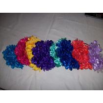 Vincha Con Flores De Tela Todos Los Colores!!!hechas A Mano