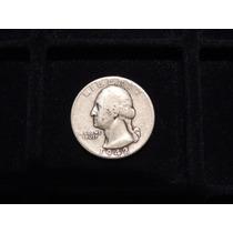Moneda 1/4 De Dolar De Eeuu Plata 900 1942 Cuarto Estados Un