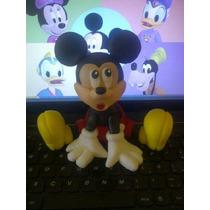 Mickey Y Minie Adorno Para Tortas En Porcelana
