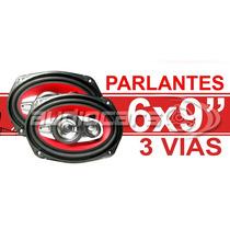 Combo Parlantes 6x9 + Caja Acustica 600w 3 Vias Lyf Bf6900