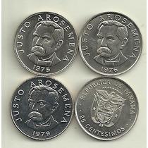Moneda Panama 25 Centesimos Año 1975/9 Justo Arosemena