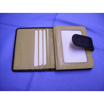 Porta-tarjetas De Crédito-portadocumentos-100%-cuero-mujer-