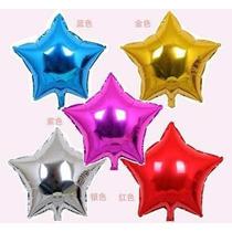 Pack 10 Globos Metalizados Corazones O Estrellas 18 Pulgadas