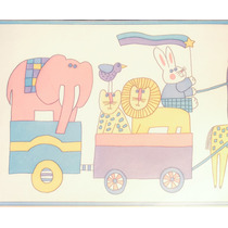 Guarda Decorativa Vinilizada X 5 Mts - Infantil - Animales