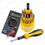Kit Reparacion Tester Multimetro + Set 31 Destornilladores