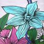 Cuadros Modernos Flores Orignales Decoración Acrílico A Mano