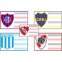 Etiquetas Autoadhesivas - Equipos Futbol - Para El Cole