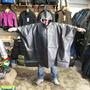 Poncho Capa De Lluvia Reforzado Trabajo - Color Negro - Mk