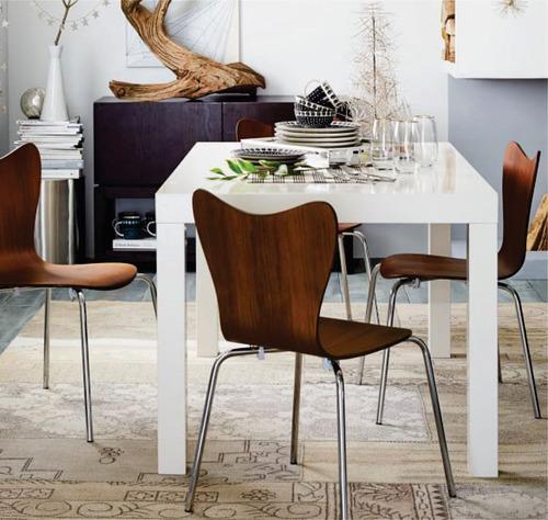 Mesa de comedor asia laqueada moderna madera 120 x 80 cm for Mesa comedor cristal 120 x 80