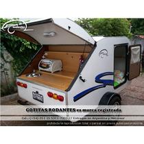 Casa Mini Rodante Gotita Rodante Premium Con Cocina Financia