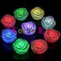 Cotillon Velas Luminosas Led Flores Rosas Flotantes X 12 Uni
