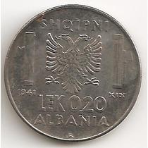 Albania Ocupacion Italiana, 0,20 Leke, 1941. Xf / Xf+