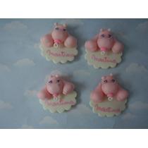 Souvenir Nacimiento En Porcelana Bebes Nena Nene Hipopotamo