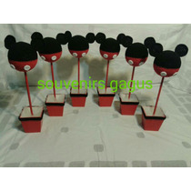 Centros De Mesas Topiario De Mickey