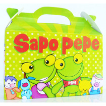 Cajita Souvenirs Sapo Pepe Y Pepa Pack X10 Valijitas