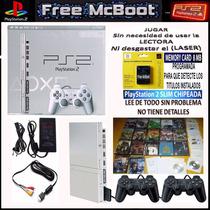 Play 2 Flasheada+ Memory Con Freemcboot Juegos Por Usb Y Dvd