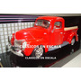Ford 1940 Pick Up - Clasica Americana Roja - Motormax 1/24