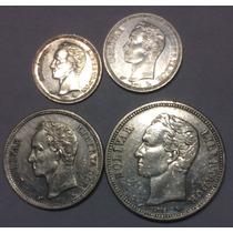 Venezuela 25, 50 Cent 1960 - 1, 2 Bolívares. 1960. Plata