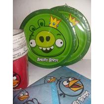 Set De Platos Cotillón Importado Angry Birds