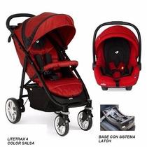 Coche Travel System Litetrax4 Infanti Joie+ Huevito+ Base!!