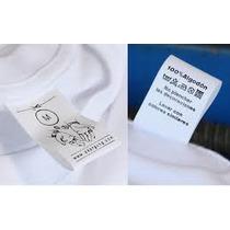 Etiquetas Ropa Marca Nombre Talle Logo Tela X100u 3cm Ancho