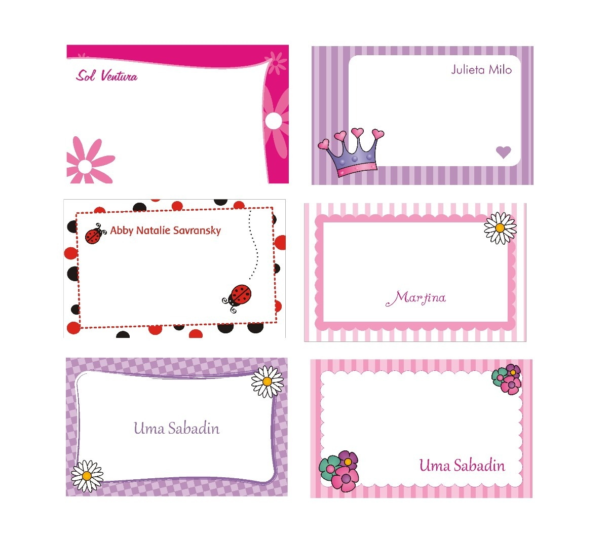 Tarjetas infantiles personales imagui for Disenos para tarjetas