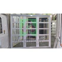 Porton Aluminio Blanco De Abrir Todo Rep Horizontal 240x200